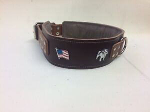 PADDED-LEATHER-DOG-COLLAR-FOR-AMERICAN-BULLDOG