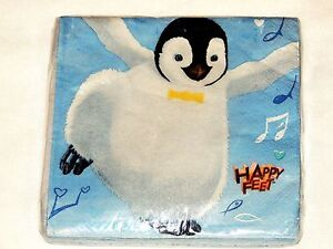 Image Is Loading HAPPY FEET 16 PAPER LUNCH NAPKINS BIRTHDAY CHILD