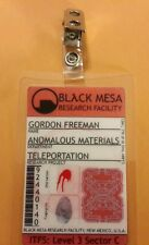 Portal ID Badge - Black Mesa Gordon Freeman  cosplay prop costume