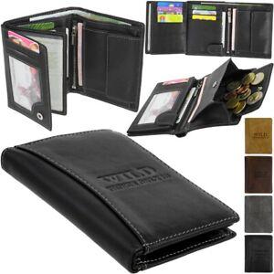 Leder-Geldboerse-Brieftasche-Portemonnaie-BAG-STREET-Geldbeutel-WILD-Geldtasche