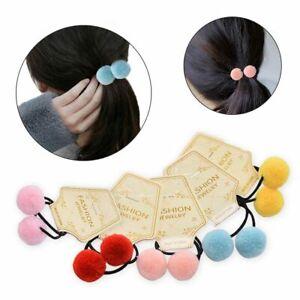 2pcs-set-Cute-Ponytail-Head-Rope-Headwear-Fur-Ball-Elastic-Hair-Band-Scrunchie