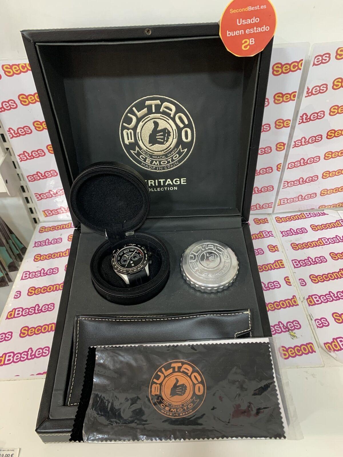 Reloj de pulsera BULTACO s48cw-s1 edición limitada + estuche Segunda Mano