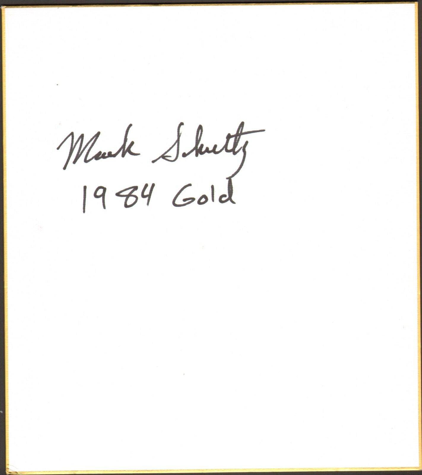 Mark Schultz Firmado Shikishi Art Board Bas COA UFC 9 1984 Olímpicos oro