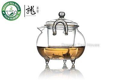Three Legs Clear Glass Teapot w/t Infuser 200ml T063