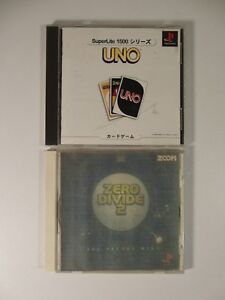Lot-2-Japanese-PSX-PS1-Games-Uno-Zero-Divide-2-Tested-Good-Japan-JP-Releases