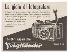 Pubblicità vintage VOIGTLANDER FOTO BESSA PHOTO reklame advert werbung publicitè