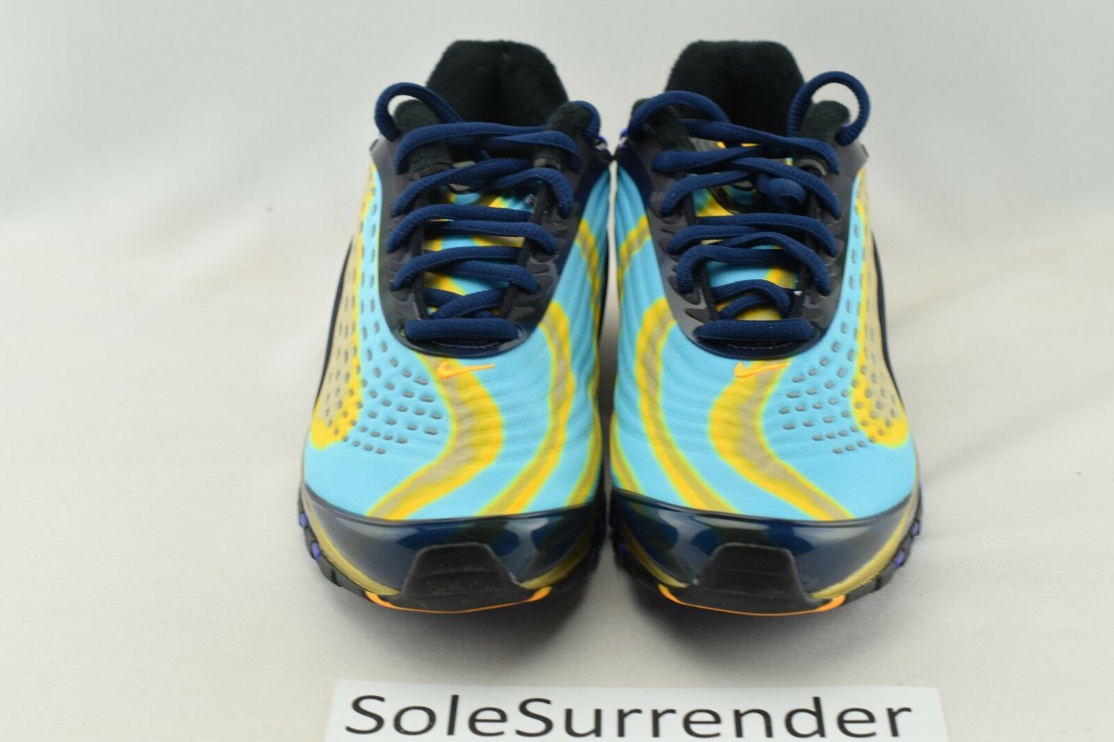 Women's Nike Air Max Deluxe SIZE 5.5 AQ1272 400 Navy Blue Yellow Black OG QS
