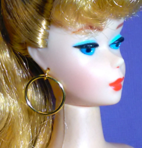 Barbie-Dreamz-LARGE-HOOPS-GOLD-Hoop-MOD-Earrings-Doll-Jewelry