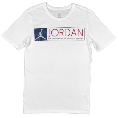 Air Jordan Mens Retro 12 French Blue Jumpman Logo Shirt White//Blue//Red New
