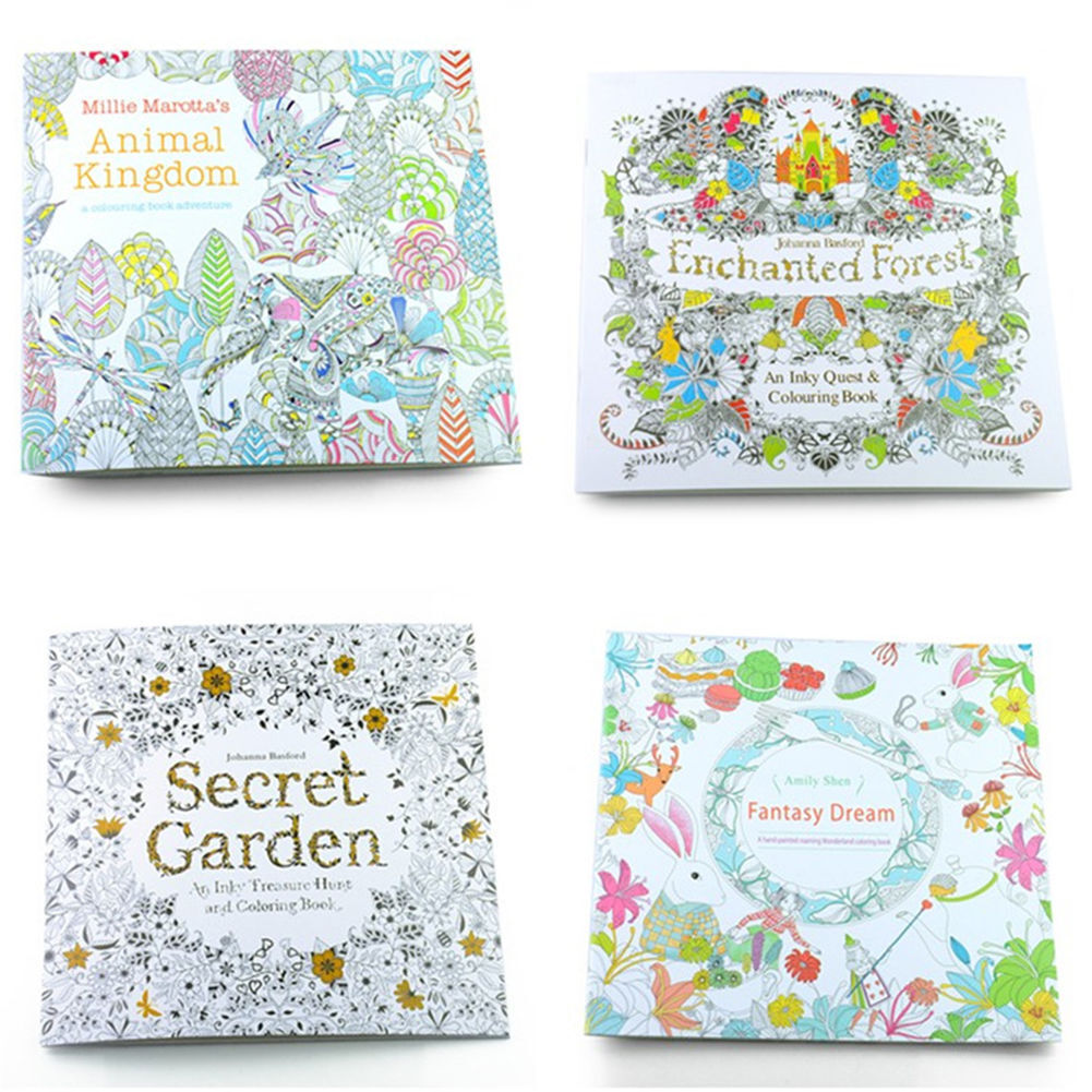 Secret Garden Coloring Books Drawing Exercise Paperbook For Childen