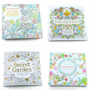 Image Is Loading Secret Garden Coloring Books Drawing Exercise Paperbook For
