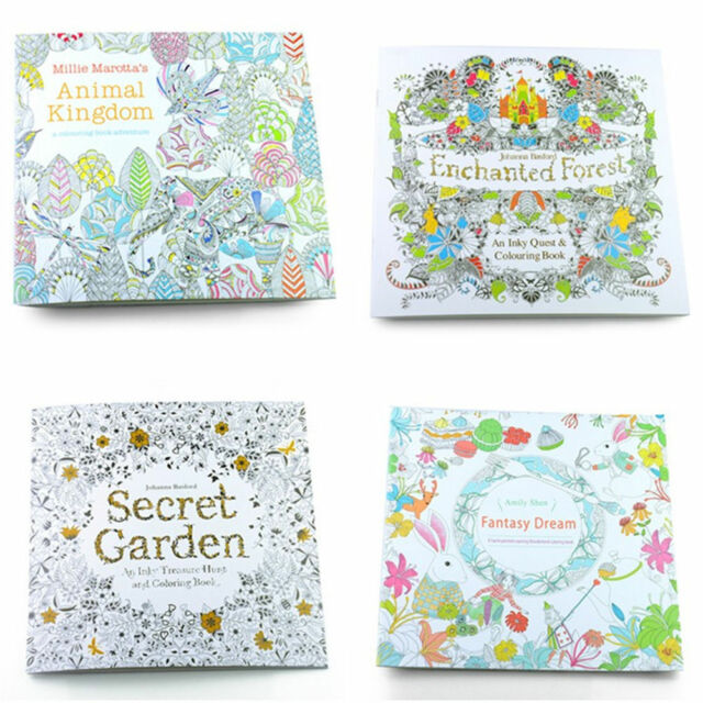 Secret Garden Coloring Books Drawing Exercise Paperbook for Childen ...