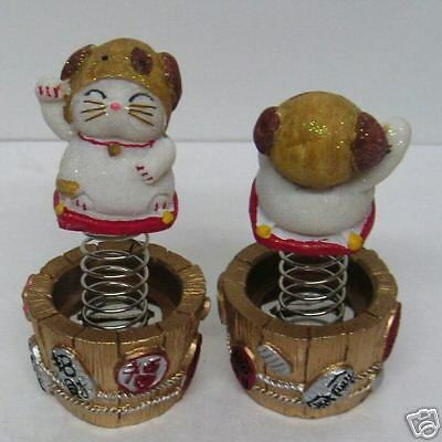 Dog Maneki Neko 12 Zodiac Bobble Head Lucky Cat