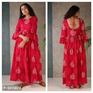 Indian Bollywood pakistani eid western gown Kurta Kurti women ethnic dress ft60