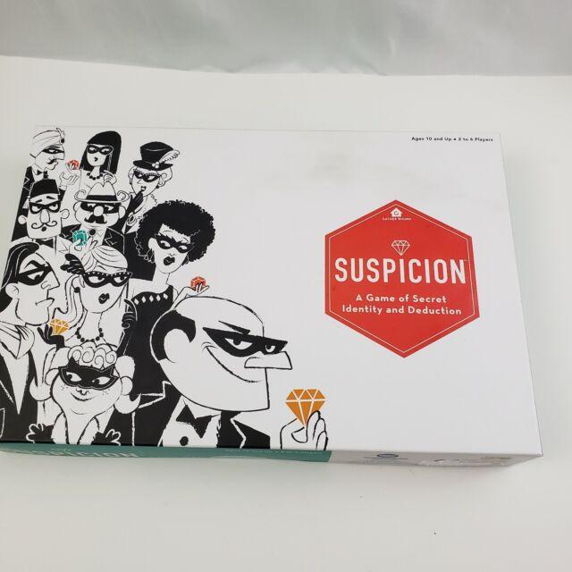 Suspicion Board Game Brand New Game of Secret Identity Forrest-Pruzan