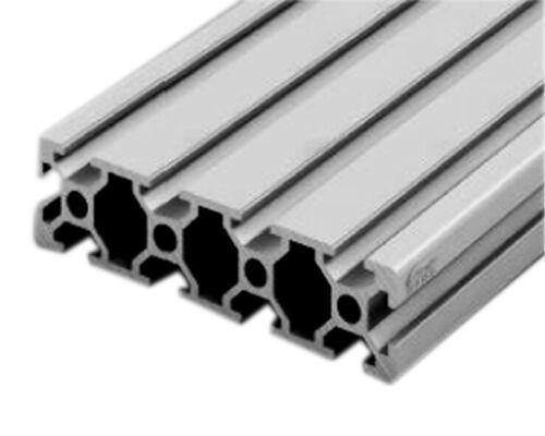 Profilé en Aluminium 20x80 mm 10µm 10 rainures 6 mm. Anodisation