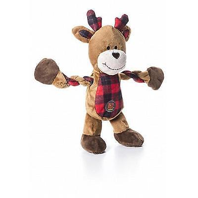 Pull & Squeak Reindeer Dog Toy