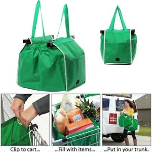 451c2637f Image is loading Grocery-Shopping-Bag-Foldable-Trolley-Tote-Eco-Reusable-