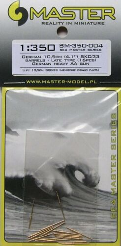 Master 1//350 German 10.5cm 4.1in # SM35004 SKC//33 Barrels Late Type 16pcs