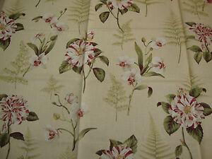 Image Is Loading 105cm SANDERSON Lavinia Fern Shabby Chic Upholstery Fabric