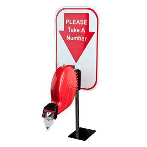 Take A Number Ticket Dispenser Kit For Retail Services Ebay