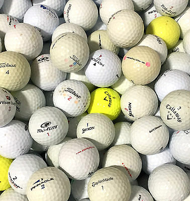 100 TITLEIST SRIXON NIKE CALLAWAY BRIDGESTONE TAYLORMADE CHEAP LAKE GOLF BALLS