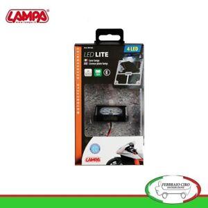 LAMPA-LUCE-porta-targa-4-led-bianca-lunga-durata-moto-scooter
