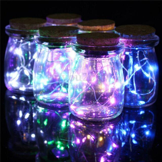 10 LED Seed Vine Vase Jar Bottle Lamp Battery Xmas Wedding Party Fairy Lights