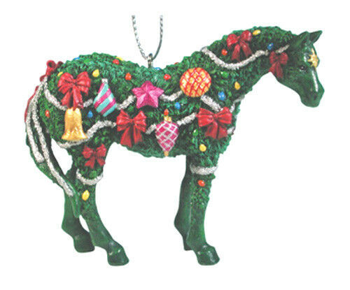 Painted Ponies DECK THE HALLS CHRISTMAS PONY ORNAMENT Resin, Retired, New In Box