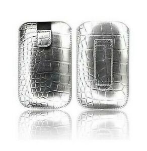 Cover-Case-Pouch-Croco-IPHONE-4-4S-Argent-Silver-Silver-Grey