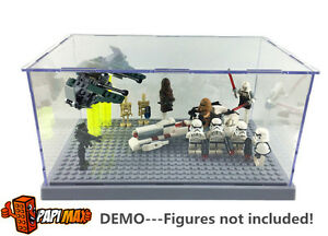 Grey Lego Star Wars Friends City Display Case Mini Figure Sets 75099