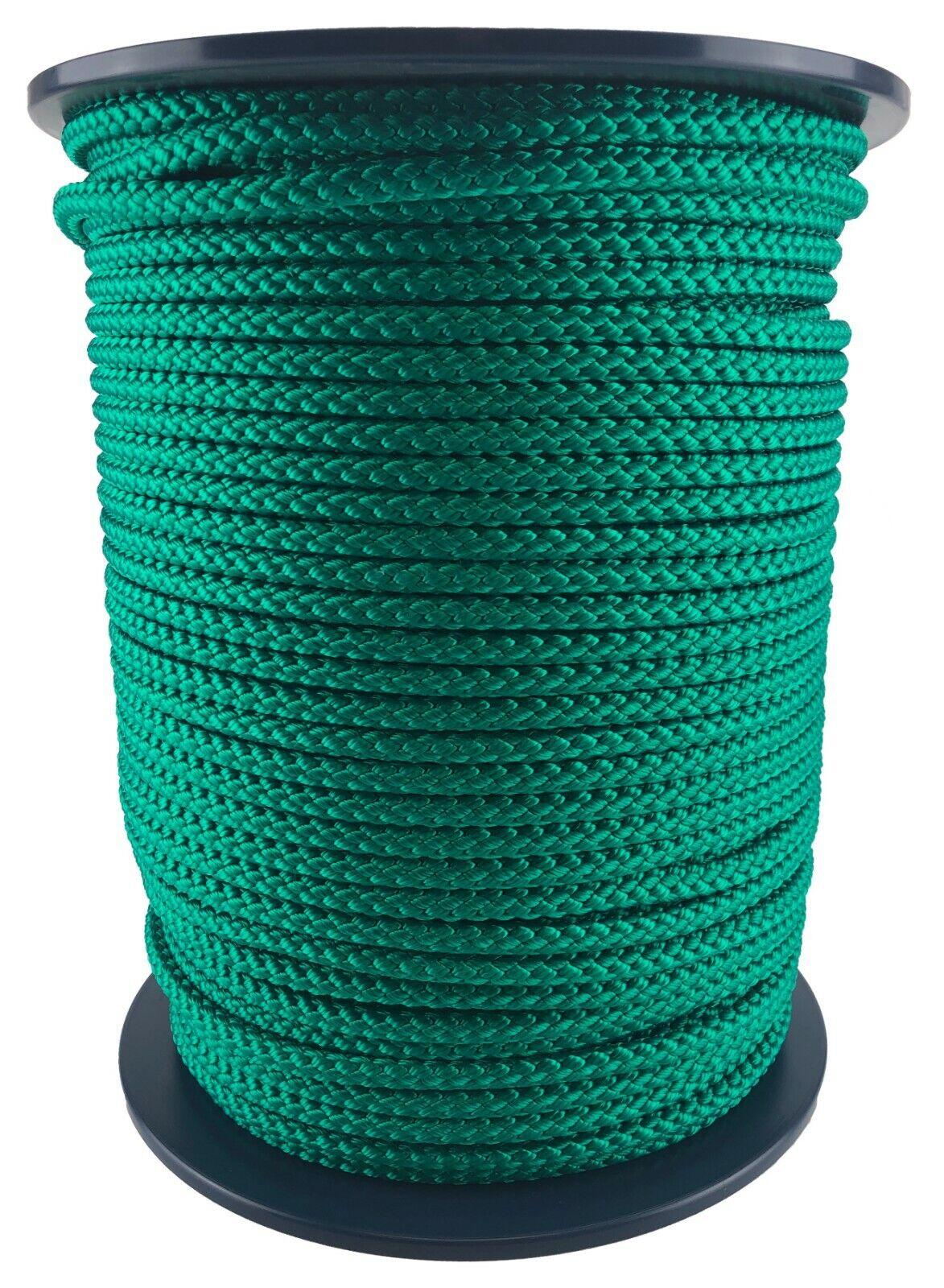 12mm Green Braided Polypropylene Rope x 35 Metres, Paracord Drawstring Camping