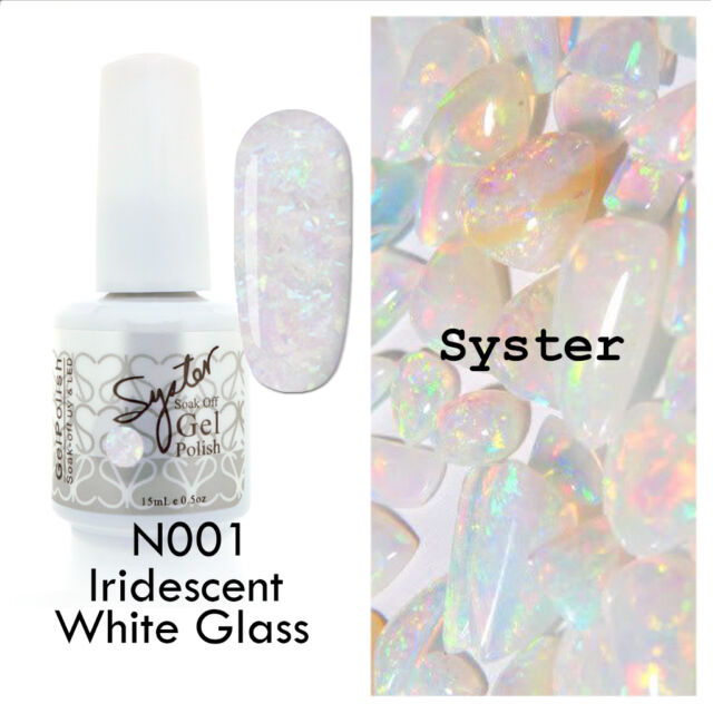 Syster 15ml Nail Art Soak Off Color Uv Gel Polish N001 Iridescent