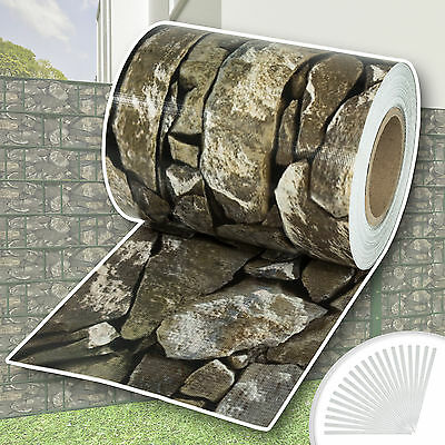 Sichtschutz Rolle PVC Zaunfolie Windschutz für Doppelstabmatten Zaun blickdicht