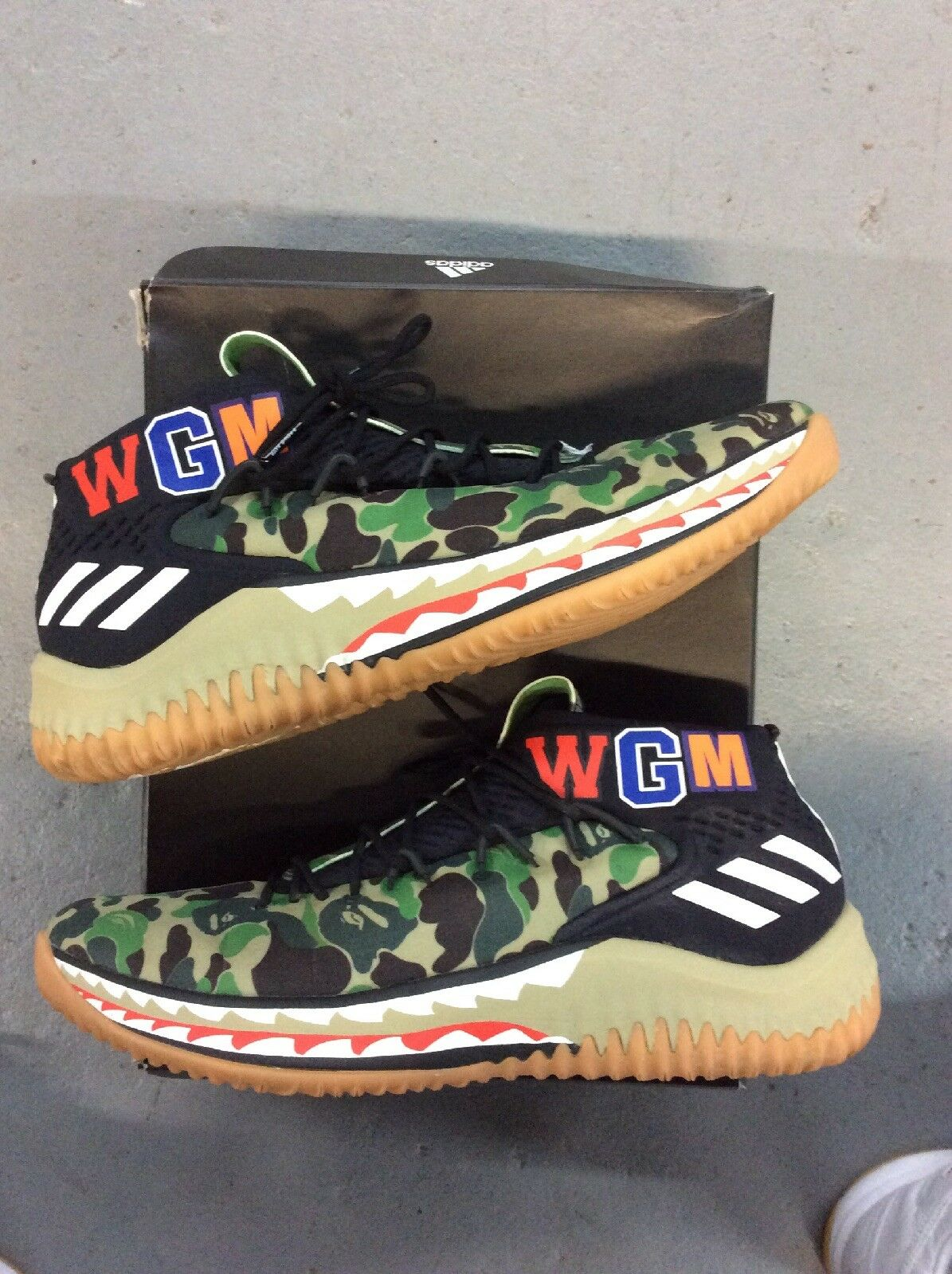 Bape x Adidas Dame 4 green camo Size 12