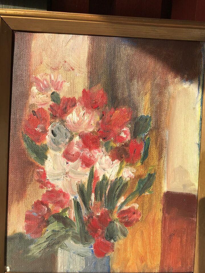 Oliemaleri, motiv: Blomster/Have, stil: Andet