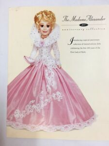 NEW-100TH-Madame-Alexander-ANNIVERSARY-Doll-Collection-Color-CATALOG-Booklet