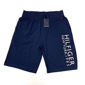 Tommy-Hilfiger-Herren-1985-Logo-Baumwolle-Shorts-in-marine