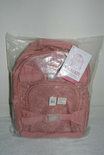 New NEVER MONOGRAMMED Pottery Barn Kids SMALL Pink Sparkle Glitter Backpack