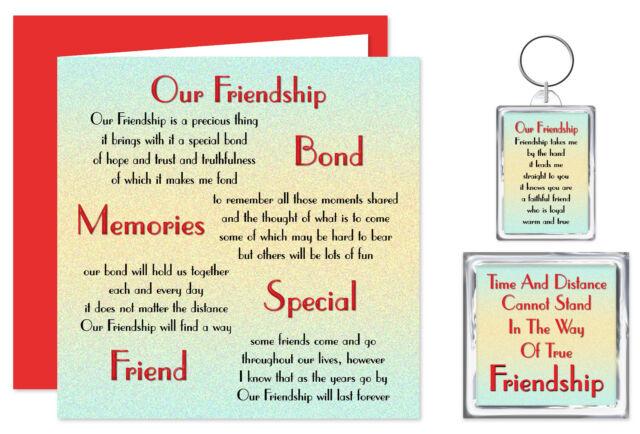 Friendship Verse Gift Set Card Keyring Magnet Best Friend