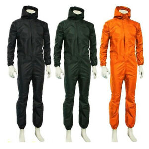 Unisex-waterproof-One-piece-Work-Hooded-Coveralls-Overall-Jumpsuit-Boilersuit