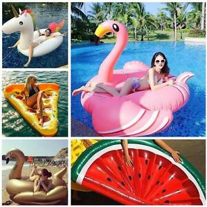 2017 Summer Swimming Pool Inflatable Swim Ring Giant Rideable.Flamingo Float-Fun