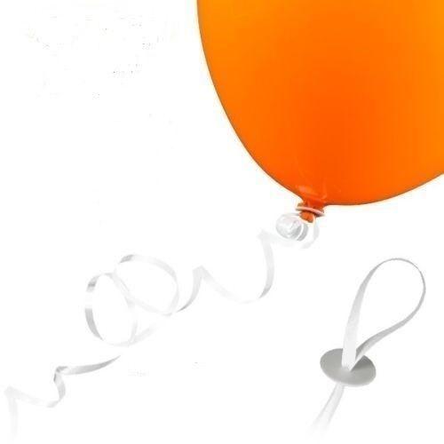 Luftballon 25 10 WEIß 50 Verschlüsse mit Polyband 100 Stück