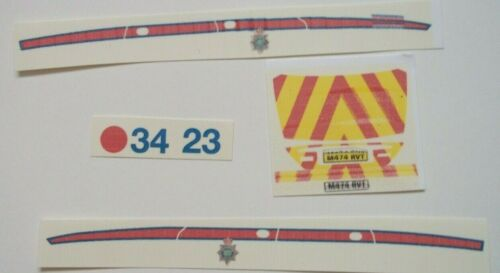 No 173 Jaguar X Type Police Livery clear waterslide decal