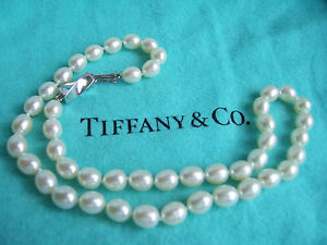 c1e2a893c Image is loading TIFFANY-amp-CO-STERLING-SILVER-CLASP-PEARL-NECKLACE
