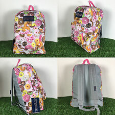 Jansport Superbreak Backpack MULTI DONUTS 100% AUTHENTIC School backpack bags