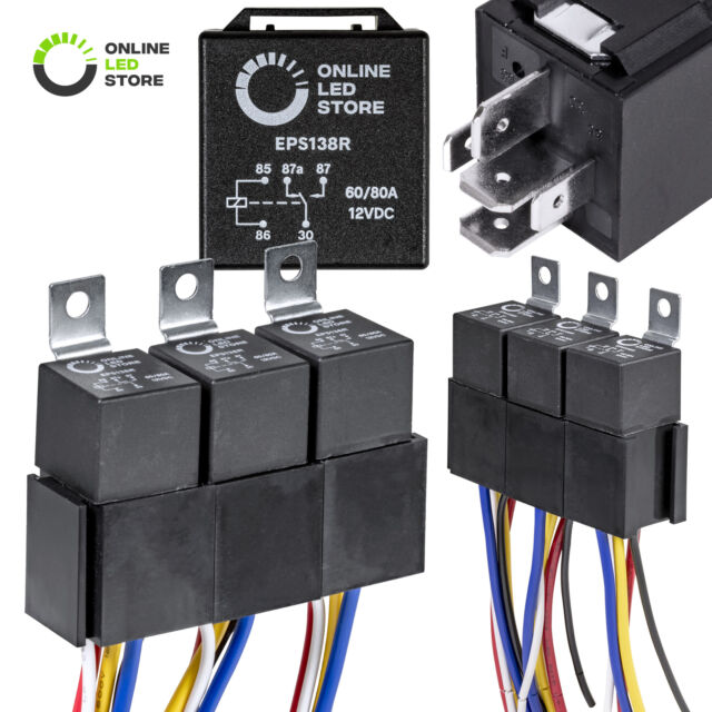 5 Pack Spdt 5 80a Bosch Style Relay For