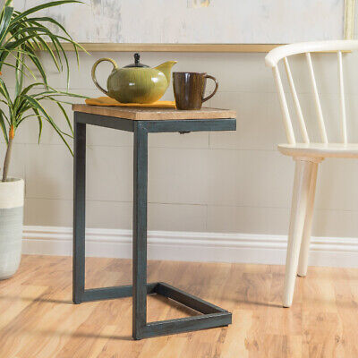 Fine Table Under Couch Sofa Chair Bed Tray End Side Accent C Slide Iron Metal Wood Ebay Creativecarmelina Interior Chair Design Creativecarmelinacom