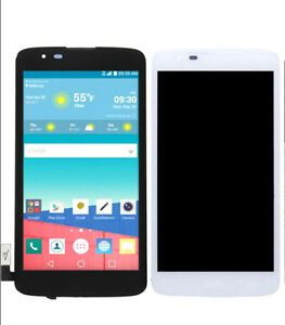 White-LCD-Toush-Screen-Digitizer-Replace-Frame-For-LG-Tribute-5-K7-LS675-MS330