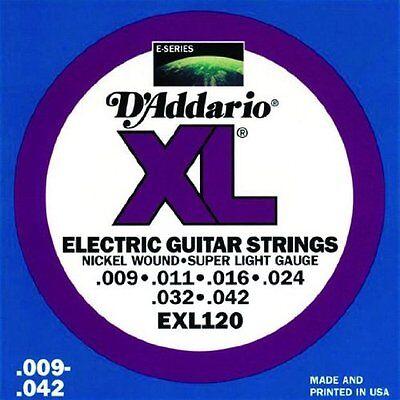 d 39 addario exl120 nickel wound electric guitar strings super light 9 42 ebay. Black Bedroom Furniture Sets. Home Design Ideas
